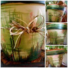 Custom Painted Flower Pots