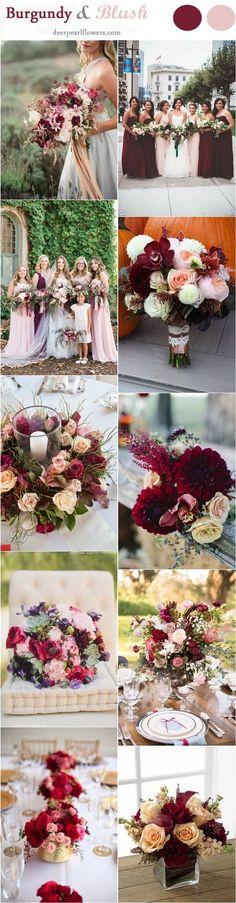 Blush and Burgundy Fall Wedding Ideas / http://www.deerpearlflowers.com/burgundy-and-blush-fall-wedding-ideas/ (Favorite Color Wedding Ideas)