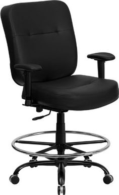Flash office chair - Pin it :-) Follow us :-)) AzOfficechairs.com is your Office chair Gallery ;) CLICK IMAGE TWICE for Pricing and Info :) SEE A LARGER SELECTION of  flash office chair at http://azofficechairs.com/?s=flash+office+chair - office, office chair, home office chair -  Flash Furniture WL-735SYG-BK-LEA-A-GG Hercules Series 400-Pound Big/Tall Black Leather Office Chair with Arms/Extra Wide Seat « AZofficechai...