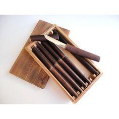 Takahashi Carbon Steel  Knife box Set 6  by JustSmashingDarling, $150.00
