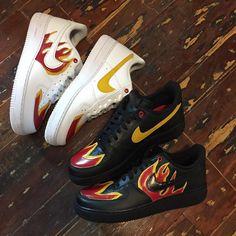 La Flame Custom Nike Air Force 1 Low