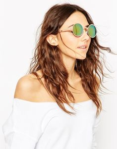 ASOS Metal Round Sunglasses