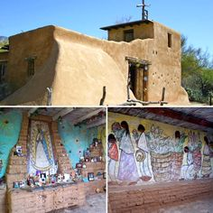 """The Mission in the Sun is a place for remembering. A place in which to begin to believe."" –DeGrazia  The Mission in the Sun is open daily; free admission. #NationalHistoricDistrict #DeGrazia #Artist #Ettore #Ted #GalleryInTheSun #ArtGallery #Gallery #Adobe #Architecture #Tucson #Arizona #AZ #Catalinas #Desert #MissionInTheSun #Mission #Murals #Guadalupe #PadreKino #Frescoes #teddegrazia #galleryinthesun #degrazia"
