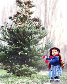 Hunting for that perfect tree... - American girl doll custom