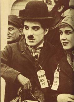 Charlie Chaplin and Edna Purviance in The Immigrant c.1917 (? time together)
