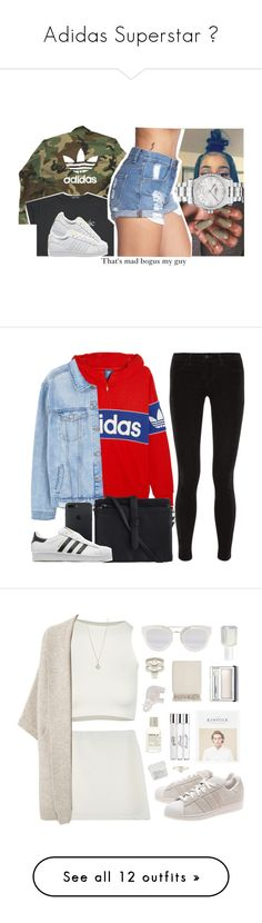 """Adidas Superstar 💫"" by breeyvonne ❤ liked on Polyvore featuring adidas, Chopard, Forever 21, adidas Originals, J Brand, MANGO, Pieces, Free People, StyleNanda and Violeta by Mango"