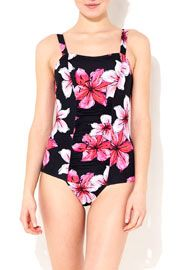 Black And Pink Swimsuit #WallisFashion