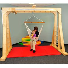 Indoor Therapy Gym | Swing & Swing Frames | eSpecial Needs Repinned by Apraxia Kids Learning. Come join us on Facebook at Apraxia Kids Learning Activities and Support- Parent Led Group.