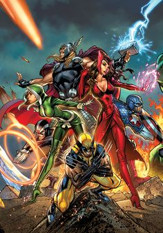 Uncanny Avengers ~ art by J. Scott Campbell