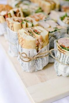 Snacks Für Party, Lunch Party Ideas, Picnic Ideas, Party Food Wraps, Brunch Party Foods, Party Games, Fancy Party Food, Birthday Snacks, Fancy Foods
