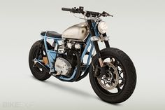 """Classified Moto """"Ripper"""" XS650  I actually don't mind the blue frame, since it's modeled after a PK Ripper BMX bike."""