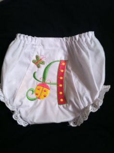 Baby bloomers Monogrammed Butterfly and lady by Fancydancyboutique, $10.50