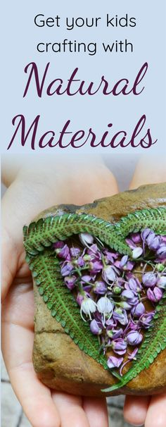 3 Easy Steps to Get Your Kids Crafting With Natural Materials.  In this guest post,  Penny of Mother Natured shares some brilliant craft ideas for children using materials generously given to us by nature.