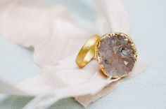 gold stone ring by @Katie Waltman