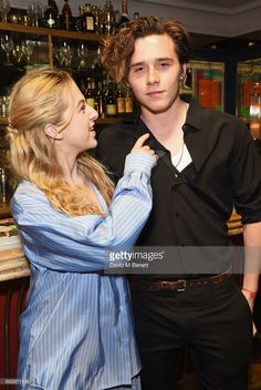 Anais Gallagher (L) and Brooklyn Beckham attend the Wonderland Summer Issue dinner hosted by Madison Beer at The Ivy Soho Brasserie on June 5, 2017 in London, England.