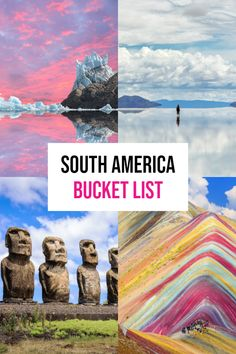 Best Places To Visit In South America: The Ultimate List! : Best Places To Visit In South America: The Ultimate Bucket list! Comprehensive South America bucket list with all the best locations! Travel Route, Peru Travel, Places To Travel, Travel Destinations, Argentina Travel, Travel Tips, Bolivia Travel, Rwanda Travel, Scuba Travel