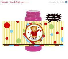 ON SALE 50% OFF Daniel Tiger's Neighborhood Instant Download Digital Printable Birthday Party bubble wrappers