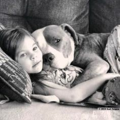 Pitbulls make the best snuggle buddies.