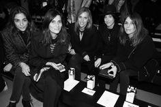 Les rédactrices de Vogue Paris : Emmanuelle Alt, rédactrice en chef, Capucine Safyurtlu, fashion & market editor, Célia Azoulay, assistante ... http://www.vogue.fr/mode/inspirations/diaporama/fashion-week-paris-les-coulisses-automne-hiver-2014-2015-jour-1-fw2014/17722/image/965813#!les-redactrices-de-vogue-paris-emmanuelle-alt-redactrice-en-chef-capucine-safyurtlu-fashion-amp-market-editor-celia-azoulay-assistante-mode-veronique-didry-redactrice-at-large-et-claire-dhelens-redactrice-mode