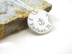 I Refuse To Sink  Hand Stamped Sterling Necklace  by AoDesigns, $41.00