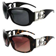 2 Pairs of DG Eyewear Black and Tortoise Frame Designer Womens Fashion Sunglasses