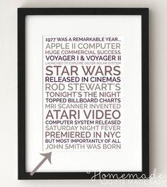 Star Wars 40th Birthday Card 40 Bd Party Birth