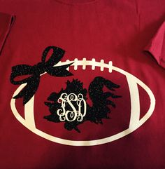 South Carolina Gamecock T-Shirt with Monograms by 5thRowSouth on Etsy