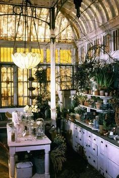 A collection of garden and potting shed ideas and greenhouse inspiration.