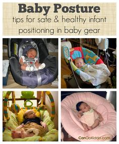 Learn the importance of your baby's position when in baby gear and tips for safe and healthy positioning in baby gear. Great information for new parents and those with a new baby on the way! CanDo Kiddo