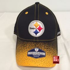 63264476537 Pittsburgh Steelers Reebok NFL Kids Boy s Girl s 4-7 Years Flexfit Cap Hat