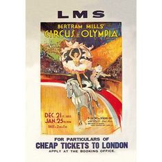 Buyenlarge Bertram Mills' Circus at Olympia Vintage Advertisement Size: