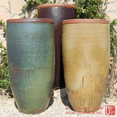 Awesome Tall Planters | Tall Rustic Jar Large Tapered Planter Bronze Large Tapered  Planter .