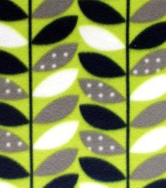 Blizzard Fleece Fabric Dotted Vines