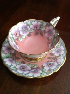 Royal Stafford Tea Cup and Saucer, Bone China, Made In England, Rare.