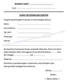 Bentuk Umum Surat Keterangan Sakit Praktek Umum Dr H