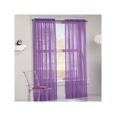 No918 Calypso Sheer Voile Curtain, Purple