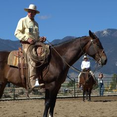 Buck Brannaman... my hero. Best horseman in the world. One day I hope to be as wise as he is