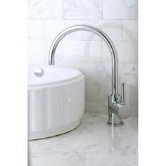 Kingston Brass Single Hole 1-Handle High-Arc Bathroom Vessel Faucet in Polished Chrome-HKS8231DL - The Home Depot