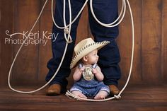 Cowboy daddy and baby