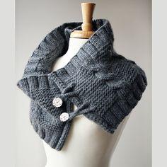 Organic Merino Wool Knit Wrap - Romantic Ivory White - Fall Winter Wedding Wrap Shrug Bolero Idea. $220.00, via Etsy.