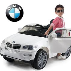 UNDER LICENSED BMW X-6 NEW POWER RIDE ON TOY ELECTRIC CAR WITH MP3 CONNECTION AND OPEN DOORS, REMOTE CONTROL.
