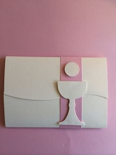 first holy communion invitations with swirl open and band closure