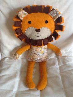 Bella --Handmade lion Lion doll lion softie ready to by BellaBooStudioUK, £23.00