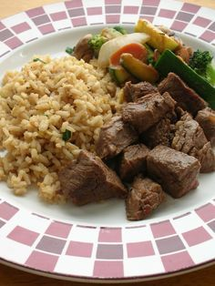 Hibachi Vegetables and Steak with Fried Rice.