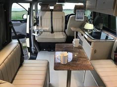 Campervan Conversions Layout, Vw Transporter Conversions, Vw Transporter Campervan, Minivan Camper Conversion, Kombi Motorhome, Motorhome Conversions, T5 Camper, Campers, Airstream Trailers