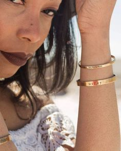 This Wifey cuff bracelet is a perfect jewelry gift for your wife or an engagement gift for the bride to be! The beautiful hand stamped adjustable and stackable bracelet is a great gift for any woman, and it's available in copper, brass, silver, or rose gold. Add a custom quote or saying and wear your boho cuff bracelet that matches any outfit! #cuffbracelet #stackablebracelet #personalizedbracelet #wifeybracelet #wifegiftideas #wifeyjewelry Cute Jewelry, Jewelry Gifts, Handmade Jewelry, Or Rose, Rose Gold, Boho Wedding, Wedding Ideas, Handmade Gifts For Her, Bride Gifts