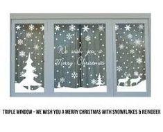 Christmas Window Signs – Fun for Christmas & Halloween Office Christmas, Noel Christmas, Winter Christmas, Christmas Crafts, Christmas Windows, Christmas Bingo, Xmas Holidays, Christmas Gingerbread, Christmas Window Stickers
