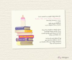 book themed baby shower invitations | Book Baby Shower Invitation by dsydesigns on Etsy