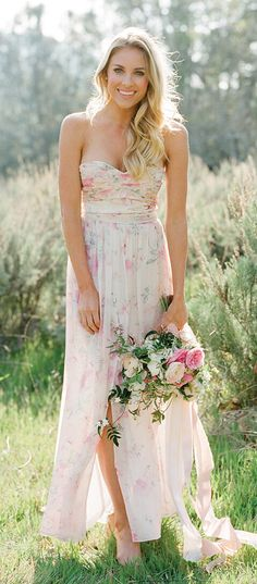 Floral Fantasy Bridesmaids Gowns from Plum Pretty Sugar