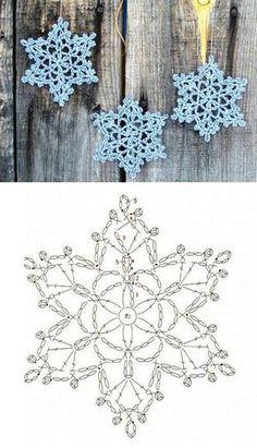 New Crochet Afghan Patterns Christmas Yarns Ideas Crochet Snowflake Pattern, Crochet Stars, Christmas Crochet Patterns, Holiday Crochet, Crochet Snowflakes, Afghan Crochet Patterns, Thread Crochet, Crochet Motif, Crochet Doilies